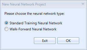 Pick a neural network type